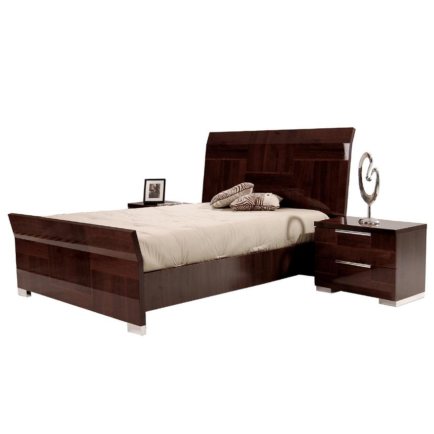 Pisa Queen Sleigh Bed Made in Italy  alternate image, 3 of 5 images.