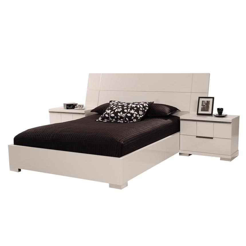 Asti Queen Platform Bed Made in Italy  alternate image, 3 of 7 images.