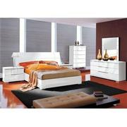 Asti Queen Platform Bed Made in Italy  alternate image, 2 of 7 images.