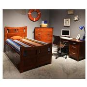 Village Craft Twin Captain Bed w/ Bunkie Board  alternate image, 2 of 7 images.