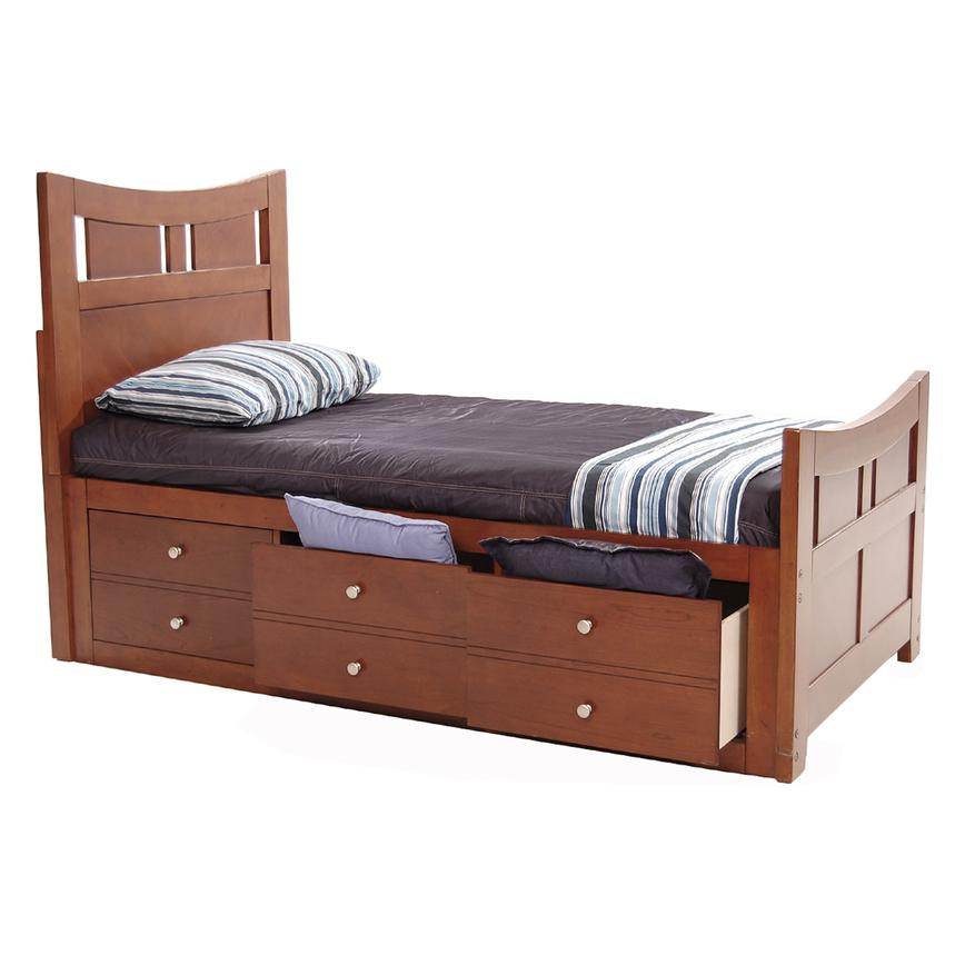 Village Craft Twin Captain Bed w/ Bunkie Board  alternate image, 3 of 7 images.