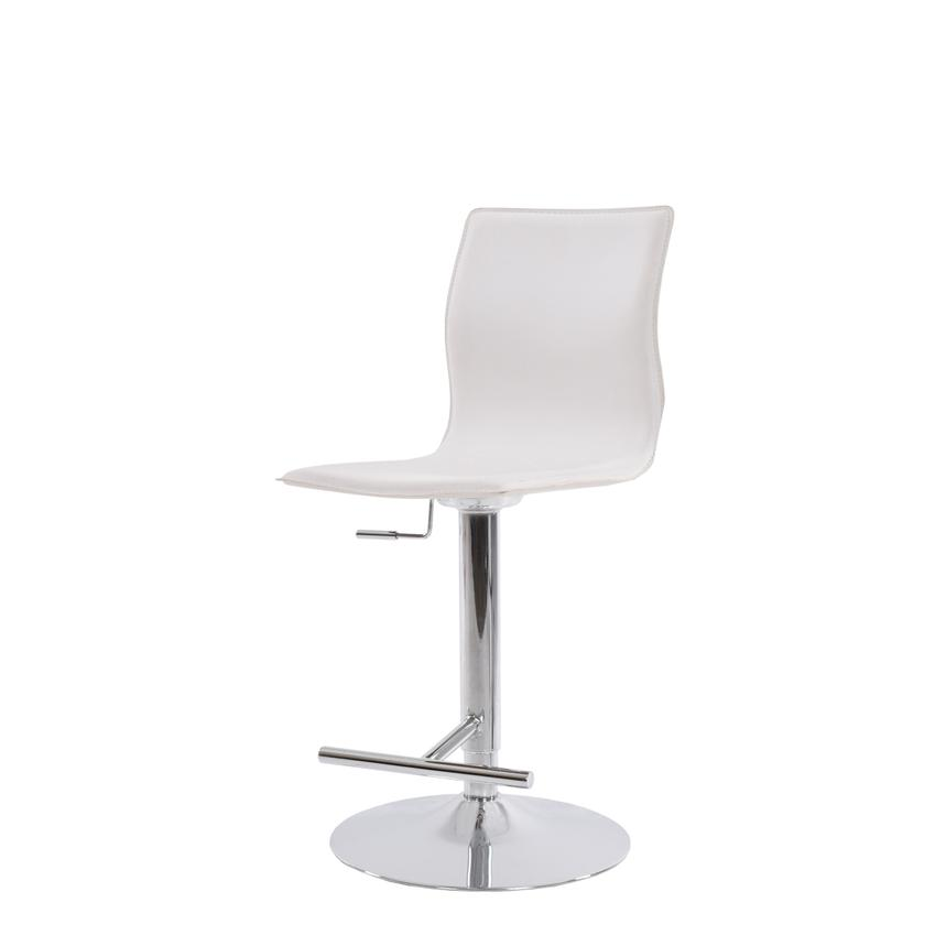 Evolution White Adjustable Stool  alternate image, 2 of 6 images.