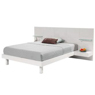 Chico White Queen Platform Bed w/Nightstands