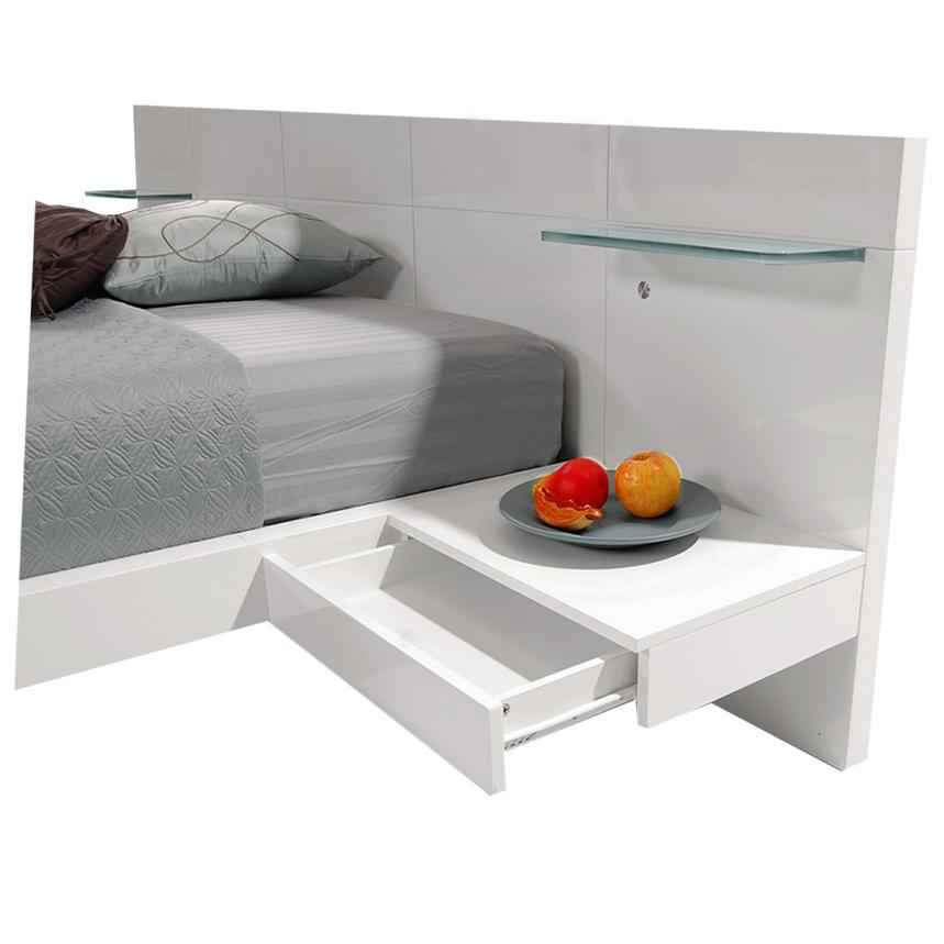 Chico White Full Platform Bed w/Nightstands  alternate image, 4 of 8 images.