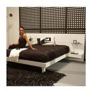 Chico White Full Platform Bed w/Nightstands  alternate image, 2 of 8 images.