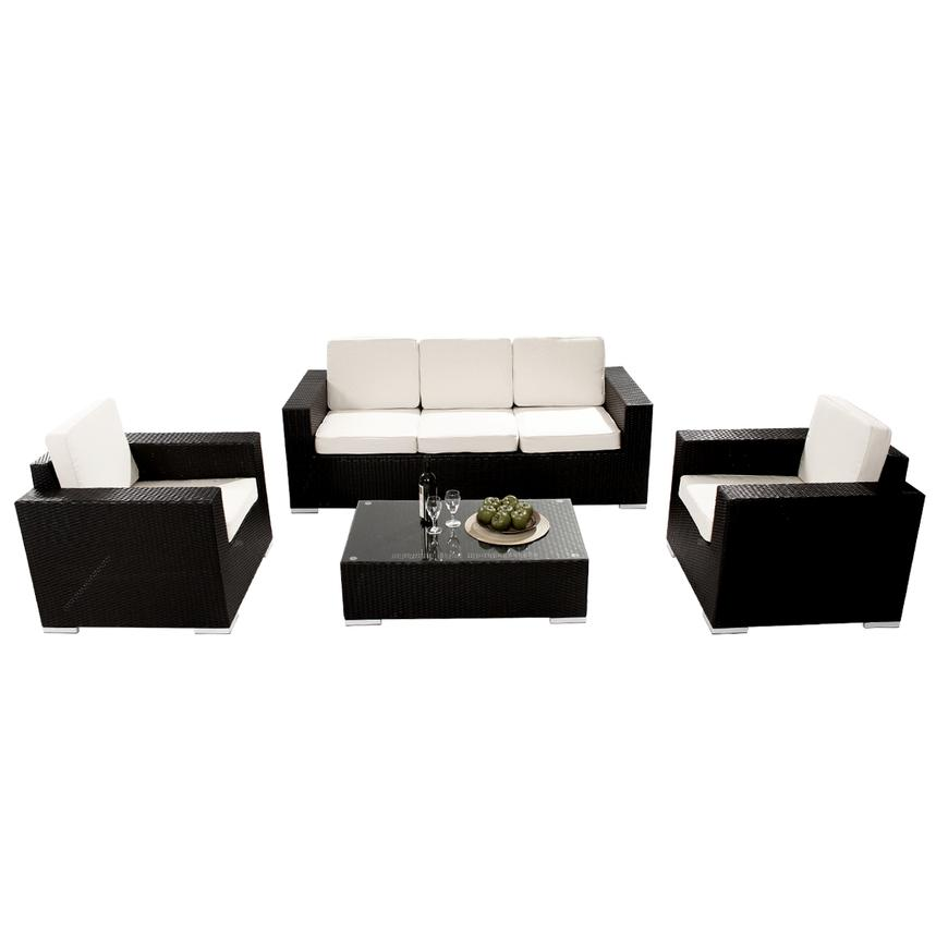 Neilina Black 7-Piece Patio Set  alternate image, 12 of 13 images.
