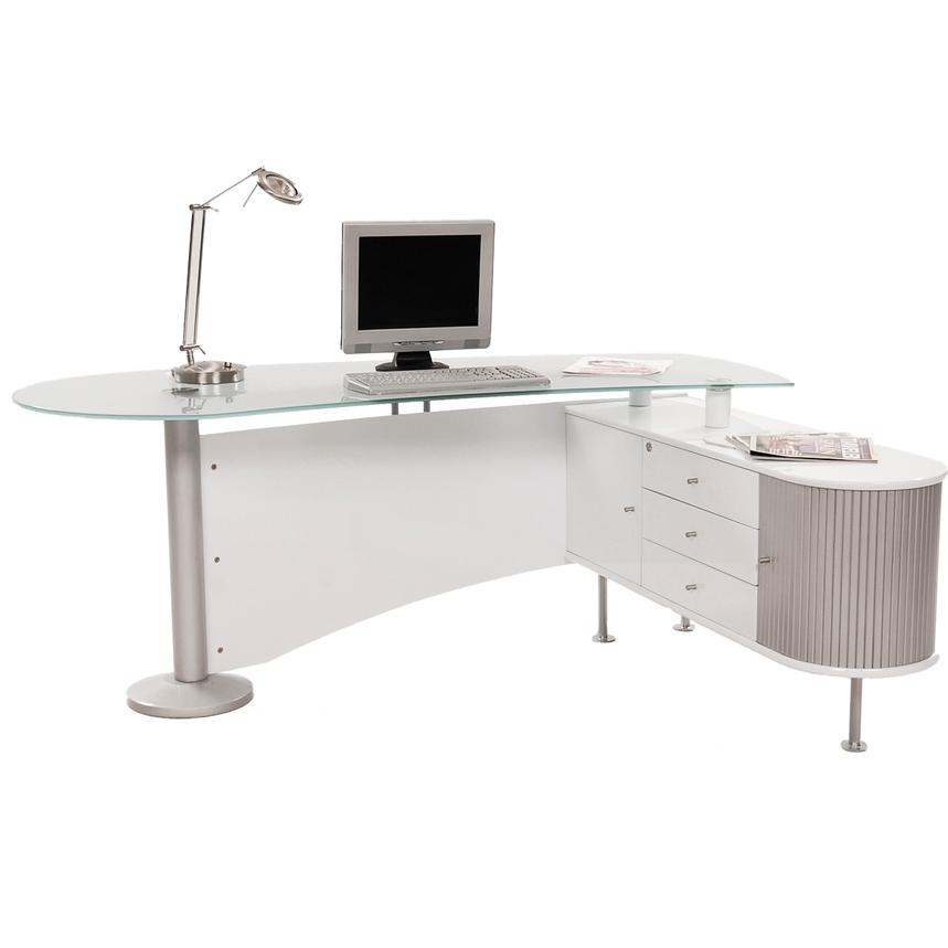 Simon White Desk El Dorado Furniture