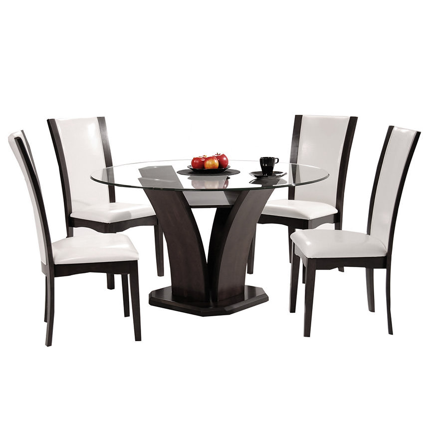 Daisy White 5-Piece Casual Dining Set  alternate image, 2 of 11 images.