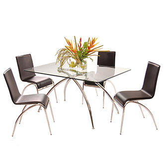 Elaine Black 5-Piece Casual Dining Set