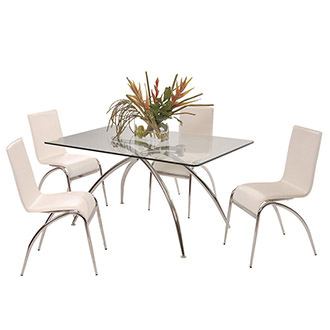 Elaine White 5-Piece Casual Dining Set
