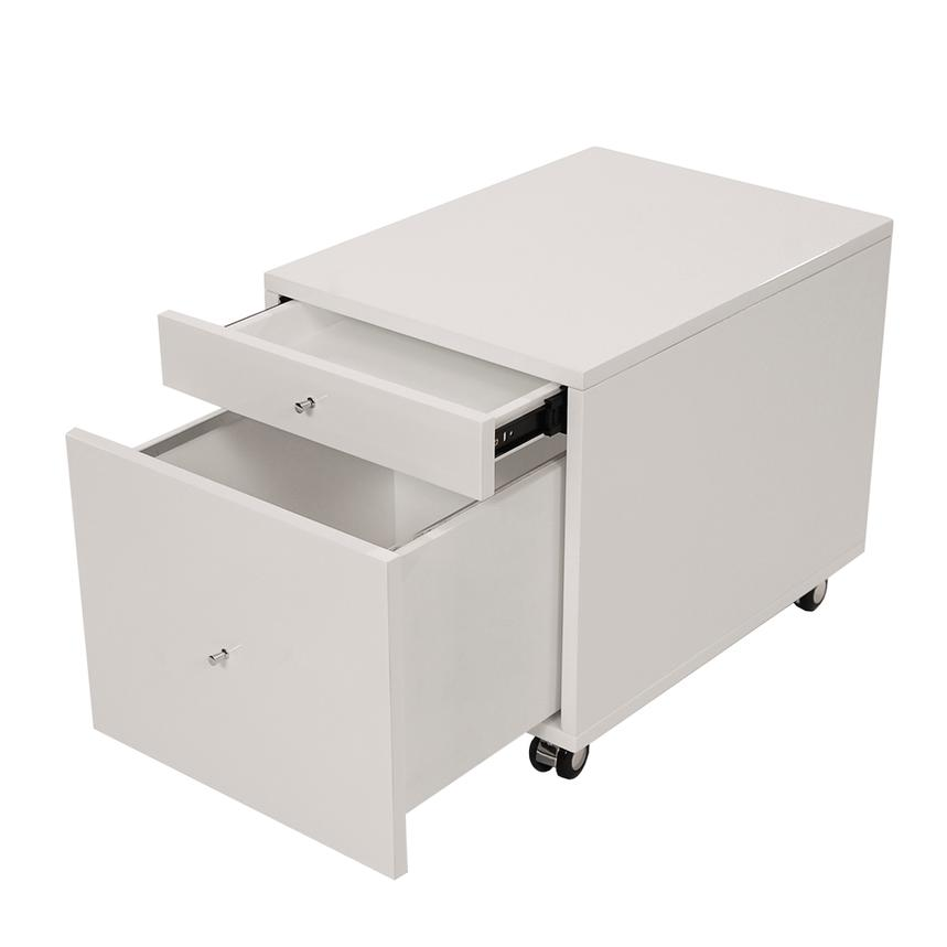 Bon Vitra White Rolling File Cabinet Alternate Image, 2 Of 7 Images.