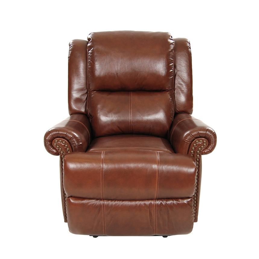 Mount Brown Power Motion Leather Recliner  alternate image, 3 of 8 images.