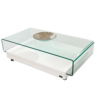 Clove White II Coffee Table w/Casters