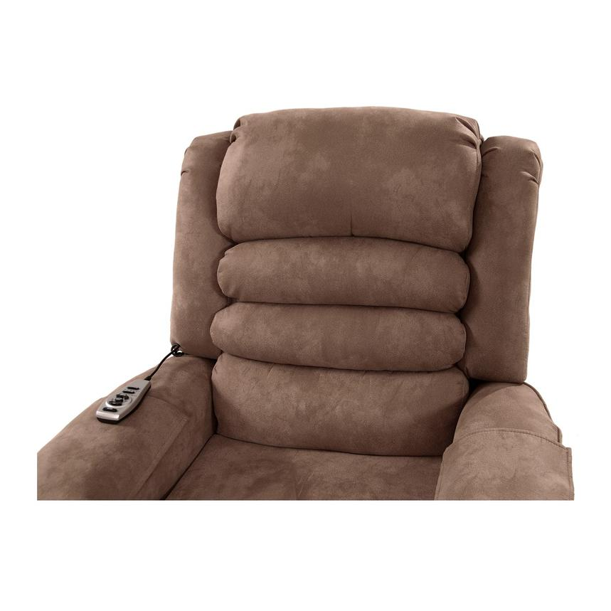 Soother Light Brown Power-Lift Recliner by Catnapper  alternate image, 7 of 9 images.