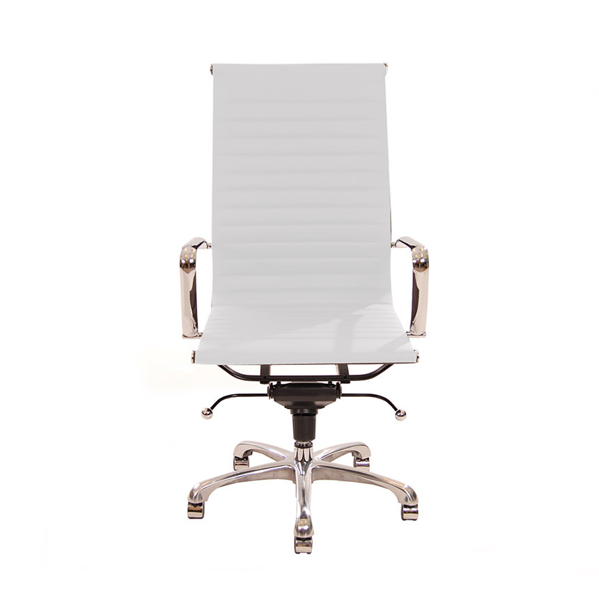 Watson White High Back Desk Chair  alternate image, 2 of 6 images.