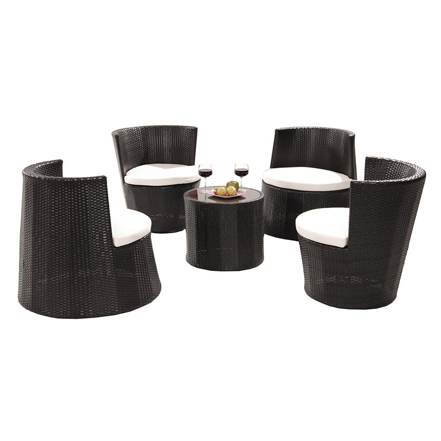 Tower Black 5-Piece Patio Set (Sold By Set Only) alternate image, - Tower Black 5-Piece Patio Set (Sold By Set Only) El Dorado Furniture