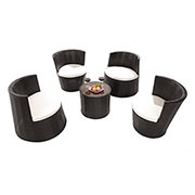 Tower Black 5-Piece Patio Set (Sold By Set Only)  main image, 1 of 17 images.