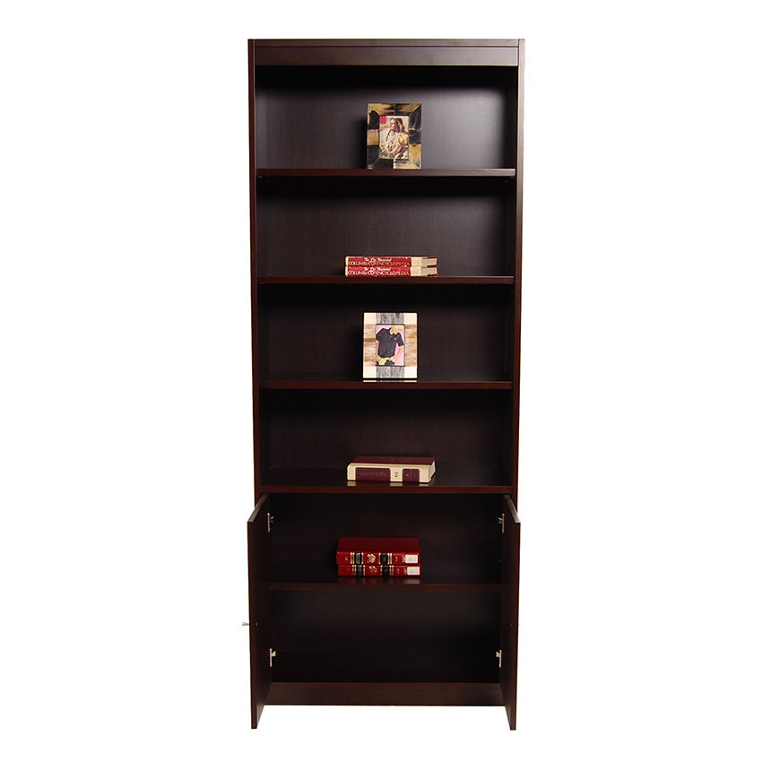 Bellmar Brown Bookcase  alternate image, 2 of 7 images.