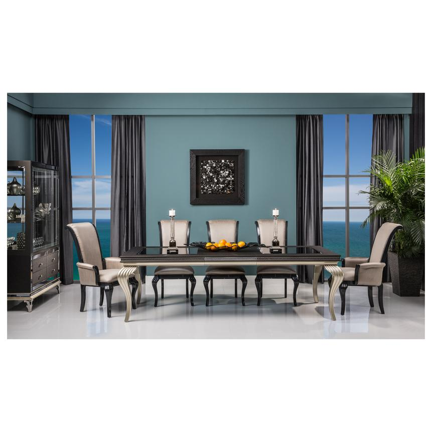 Hollywood Swank Black Extendable Dining Table Alternate Image 2 Of 9 Images