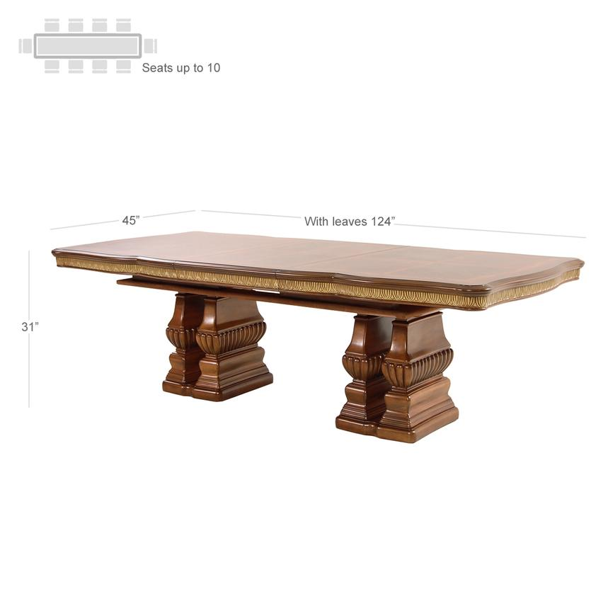 Cortina Extendable Dining Table  alternate image, 2 of 5 images.