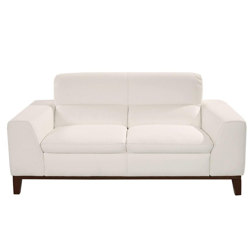 Milani White Leather Loveseat El Dorado Furniture