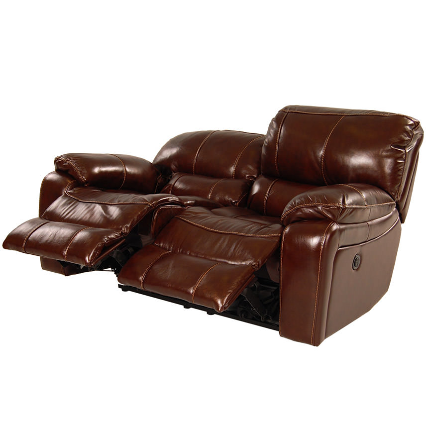 Hudson Power Motion Leather Loveseat  alternate image, 2 of 9 images.