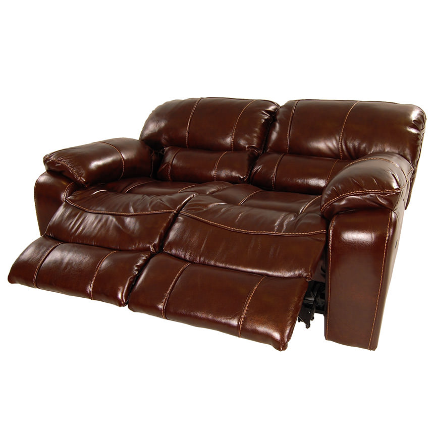 Hudson Power Motion Leather Loveseat  alternate image, 3 of 9 images.