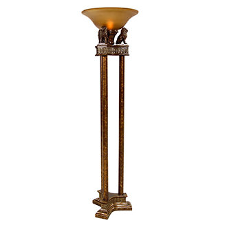 Lions Torchiere Floor Lamp