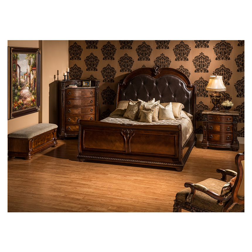 Faux Leather Chaise