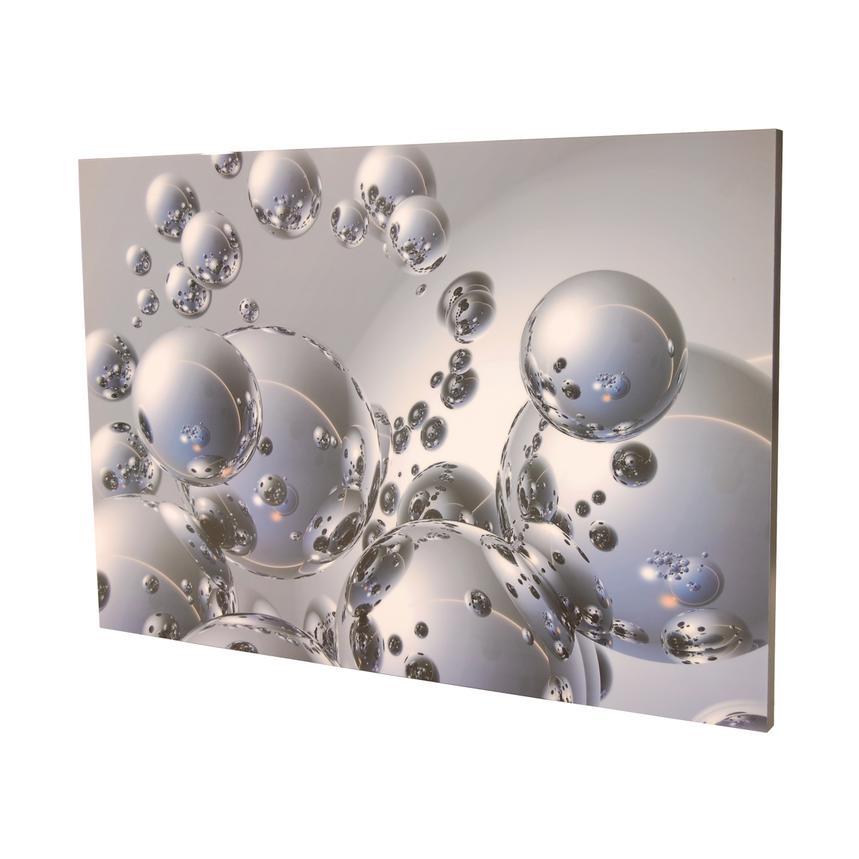 Silver Orbs Acrylic Wall Art El Dorado Furniture