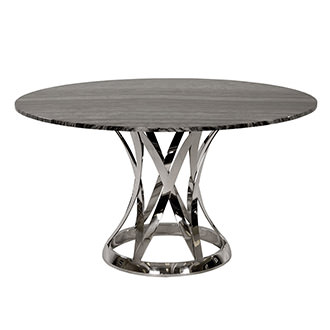 Janet Marble Round Dining Table