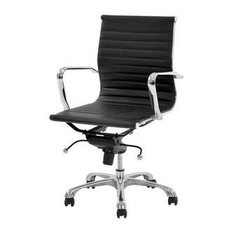 black desk chair. Watson Black Low Back Desk Chair