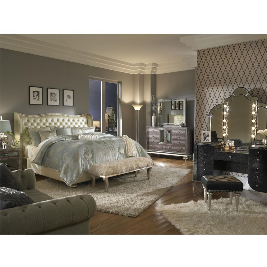 Hollywood Swank Pearl Queen Platform Bed El Dorado Furniture