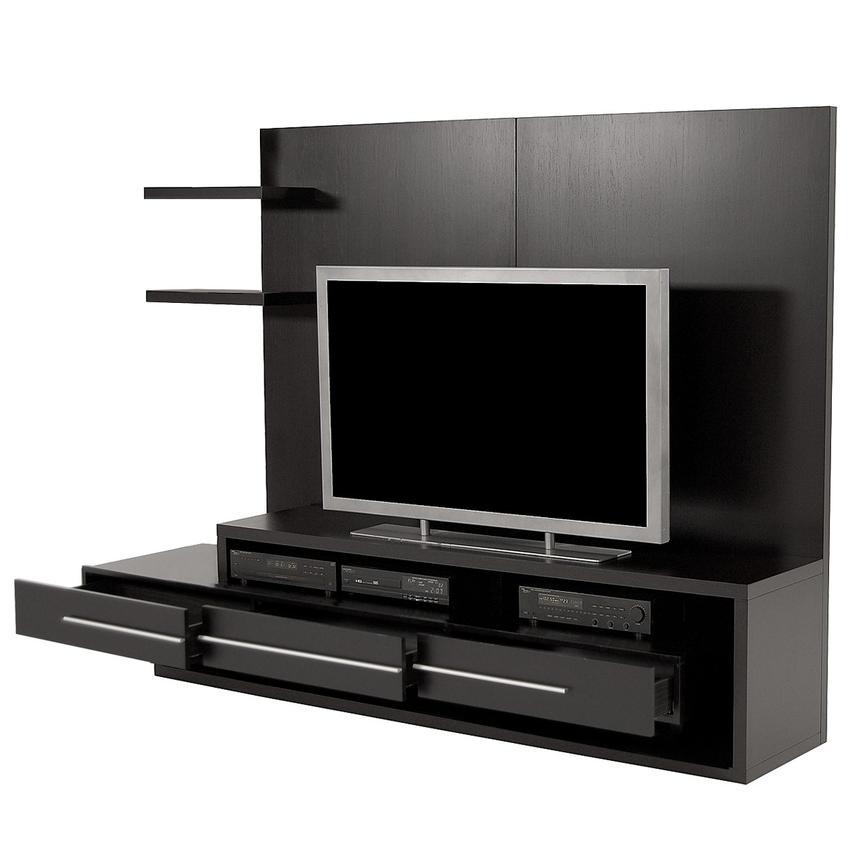 Avanti Dark Oak Wall Unit   El Dorado Furniture