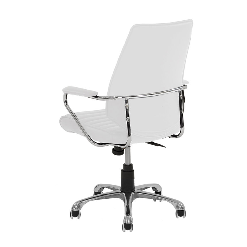 Enterprise White Desk Chair Alternate Image, 3 Of 5 Images.