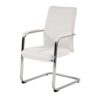 Conference White Guest Chair