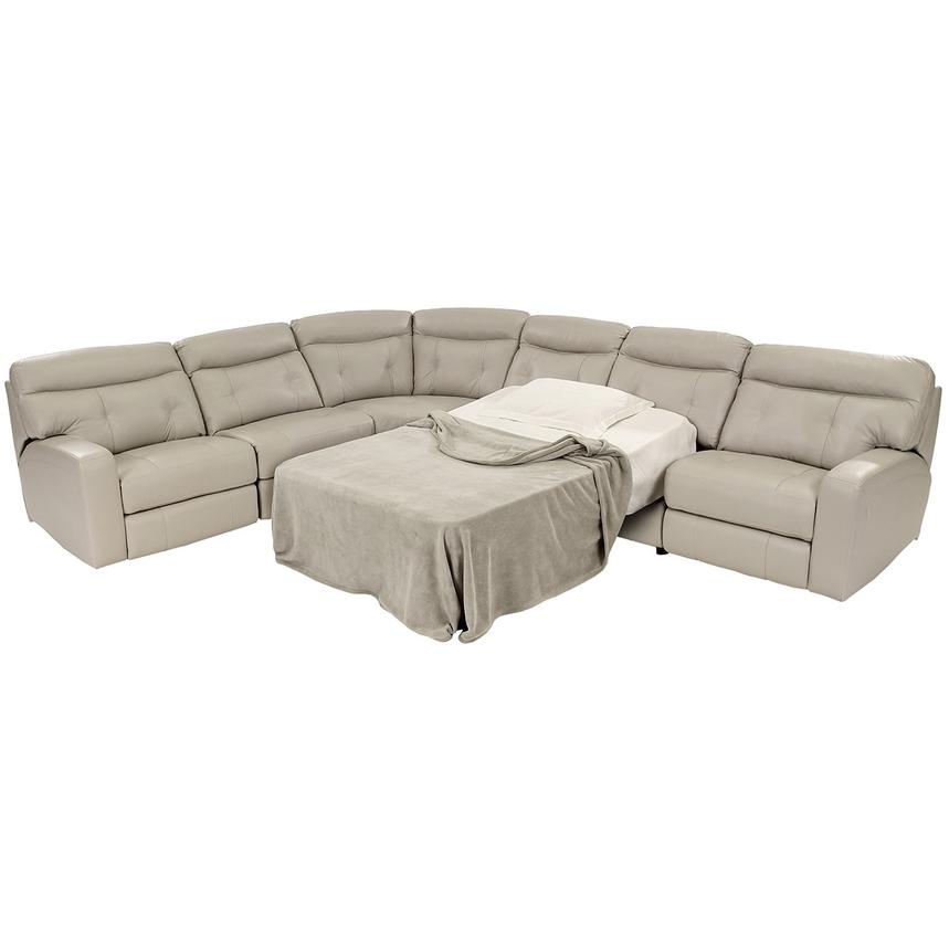 Owen Oyster Power Motion Leather Sofa W Sleeper El