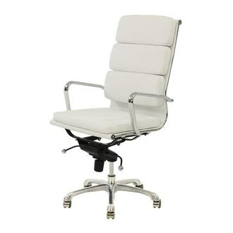 Marconi White High Back Desk Chair