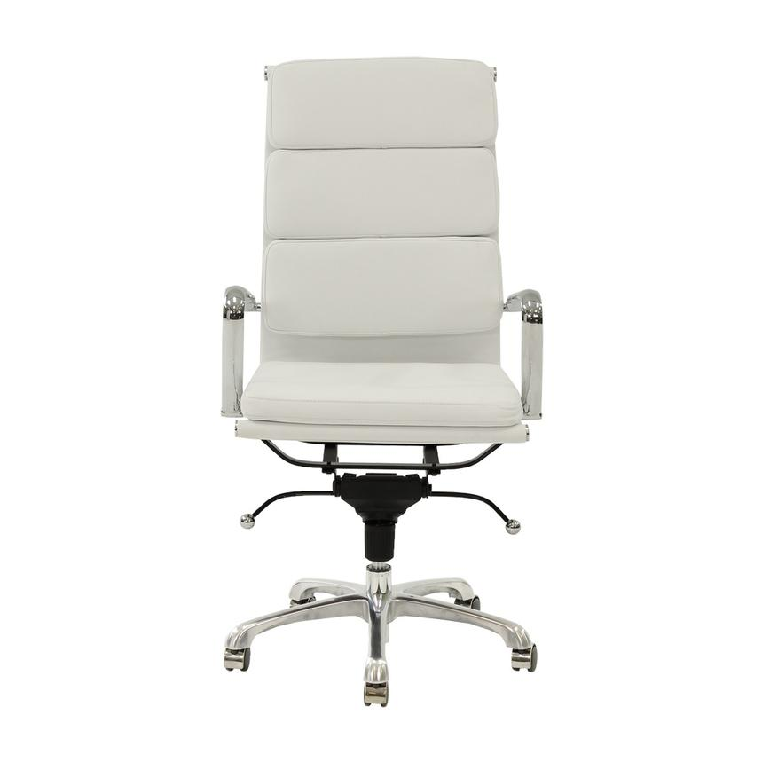 Marconi White High Back Desk Chair  alternate image, 2 of 6 images.