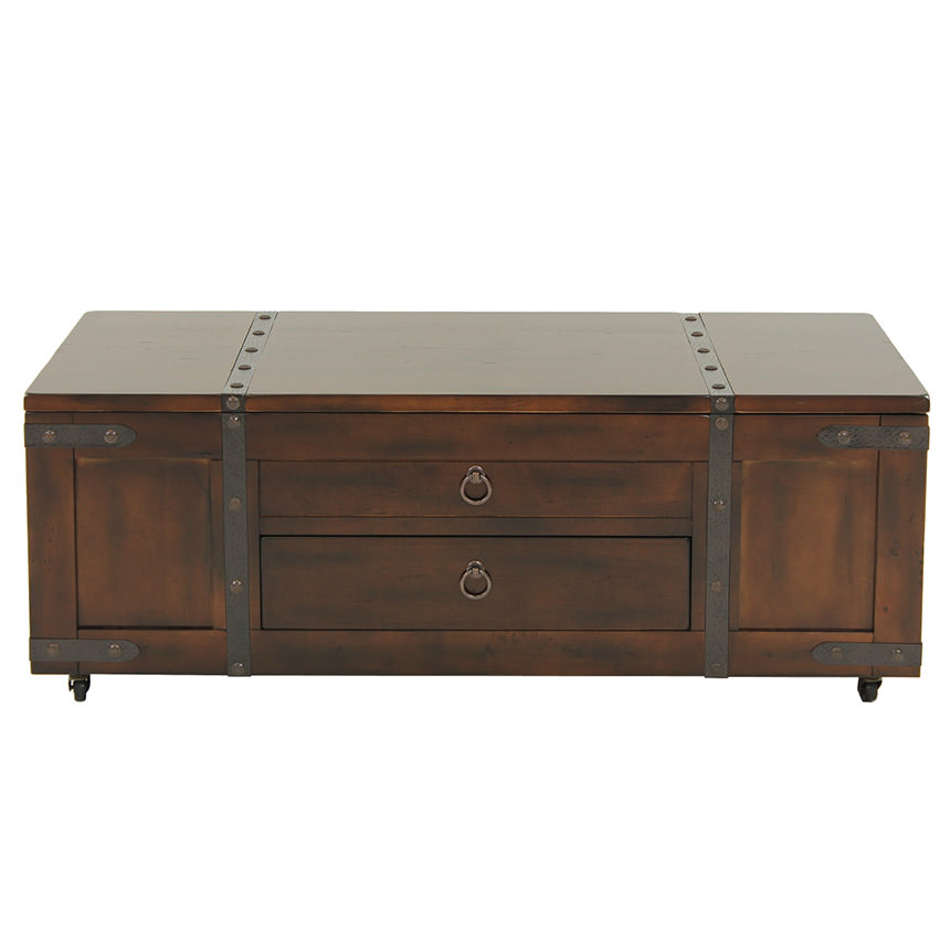 Santa Fe Lift Top Coffee Table w/Casters  alternate image, 2 of 6 images.