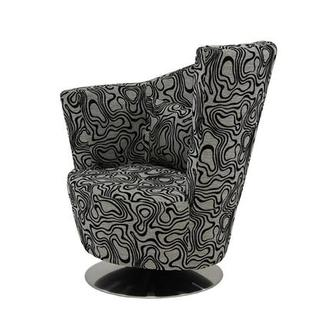 Sasha Swirl Swivel Accent Chair