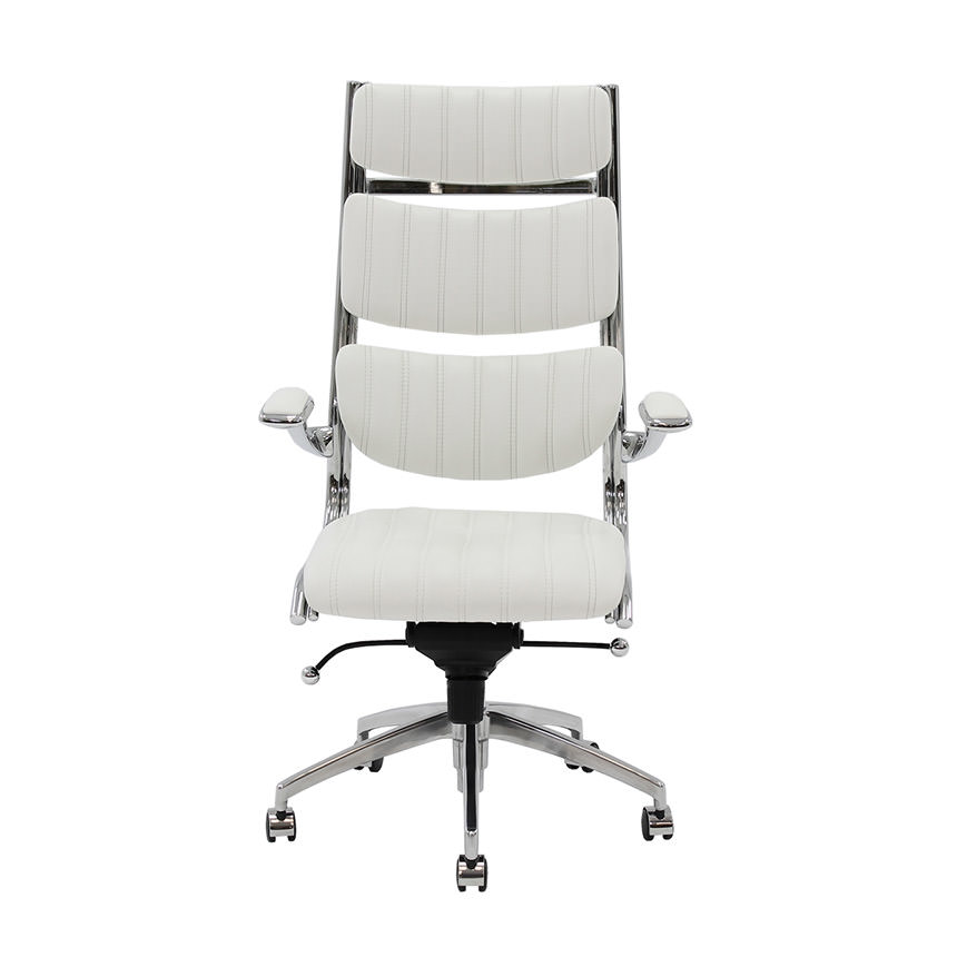 Bell White High Back Desk Chair Alternate Image, 2 Of 6 Images.