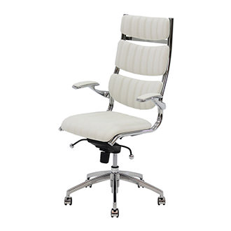 Bell White High Back Desk Chair