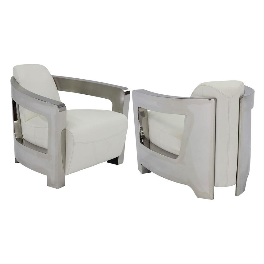Awe Inspiring White Leather Accent Chair Ibusinesslaw Wood Chair Design Ideas Ibusinesslaworg
