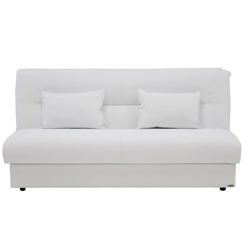 Regata White Futon w/Storage  alternate image, 2 of 8 images.