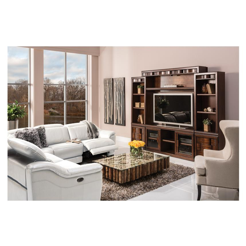 Davis White Power Motion Leather Sofa Alternate Image, 2 Of 12 Images.