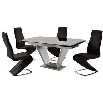 Jessy/Tegan Black 5-Piece Formal Dining Set