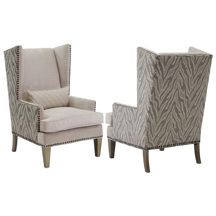 Laura Cream Accent Chair Alternate Image, 2 Of 7 Images.