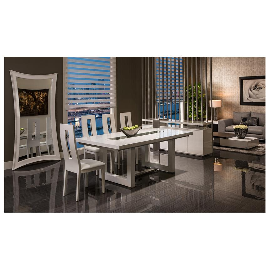 Novo White 5-Piece Formal Dining Set  alternate image, 2 of 12 images.