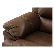 Augusto Chocolate Power Motion Sofa w/Right & Left Recliners  alternate image, 4 of 8 images.